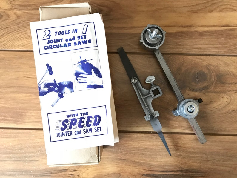 Vintage Speed Jointer And Saw Set