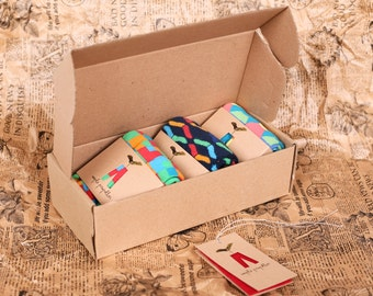 Men's gift colorful socks in a gift box | 3 PACK