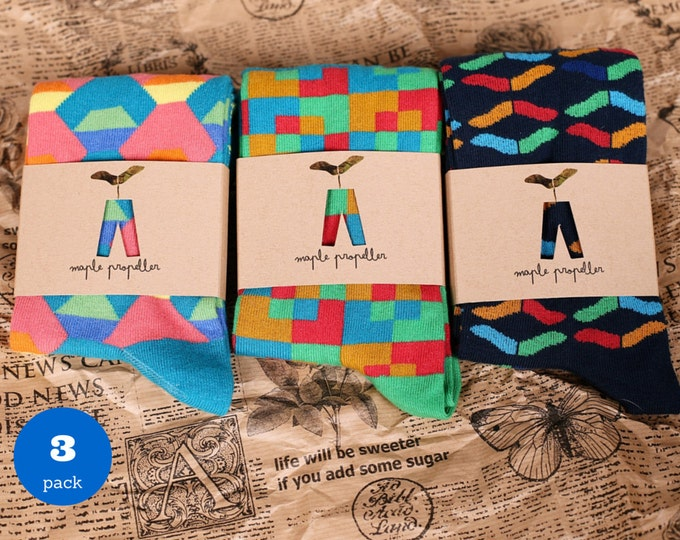 Featured listing image: Men's colorful dress socks I 3 PACK