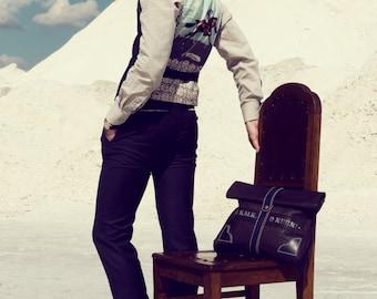 Men's 2 piece  pants and waistcoat set in wool silk blend