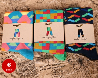 Men's colorful dress socks | 6 PACK