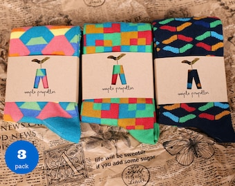 Men's colorful dress socks I 3 PACK