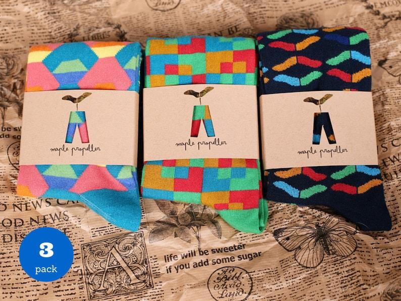 501e42e260bf Mens colorful dress socks 3 PACK groomsmen sock man sock