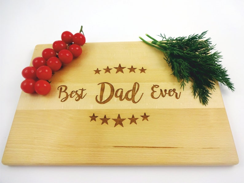 Cutting Board for DAD Stars BEST DAD Ever handmade cheesboard Lazer engraved. Father/'s Day gift Anniversary birthday gift