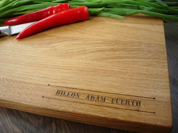 """Personalized Cutting Board. Wooden Cutting Board Lazer Engraved 8x13"""" or 10 x 15"""" or 12x15"""". Ideal gift for wedding . Choping block"""