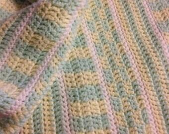 Checks and Stripes Baby Afghan