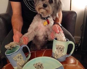 Custom Dog Mug with One Drawing