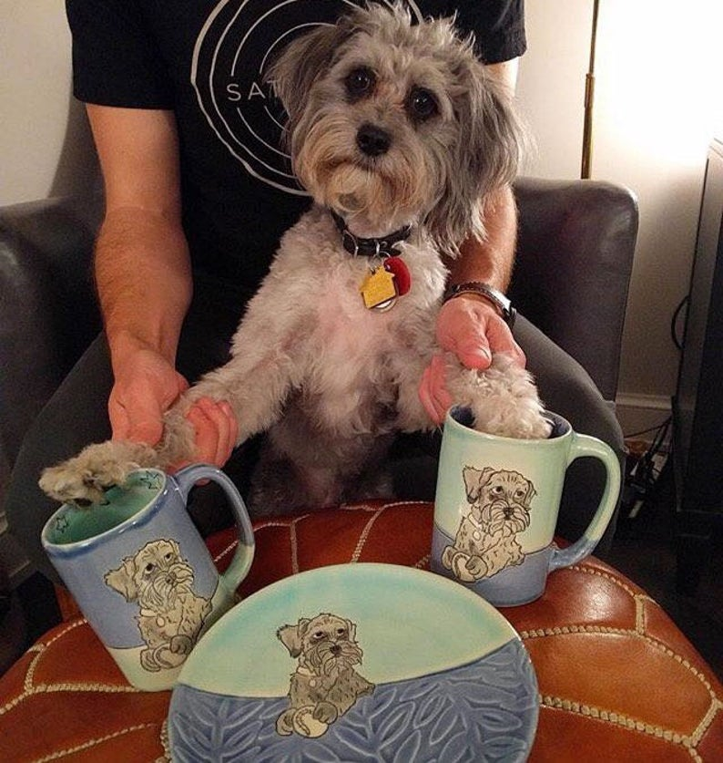 Custom Dog Mug with One Drawing image 0
