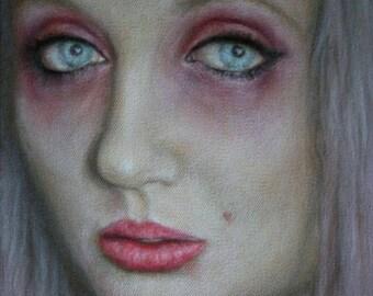 love junkie. acrylic & oil on canvas