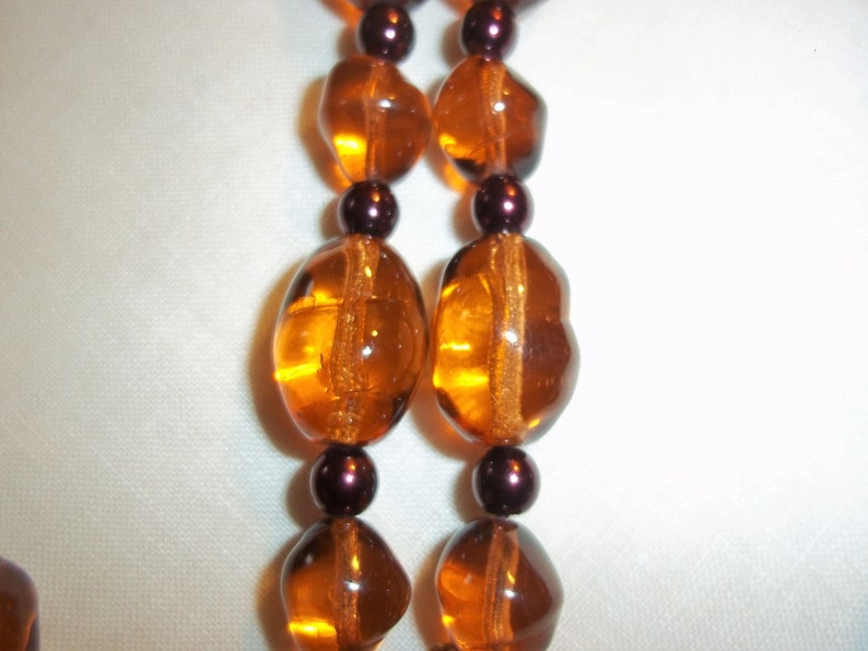 Glamorous JOAN RIVERS Signed Amber Glass Light Filled Beaded Necklace Vintage 1990/'s Excellent Condition Free Shipping