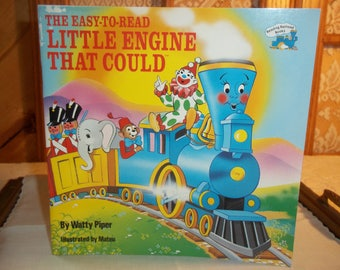 The Engine That Could by Watty Piper Vinatge 1986  Copyright Paperback Laminated Cover Easy to Read Children's Book Great for Gifitng