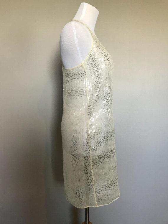 Vintage Sheer Sequin Dress - image 3