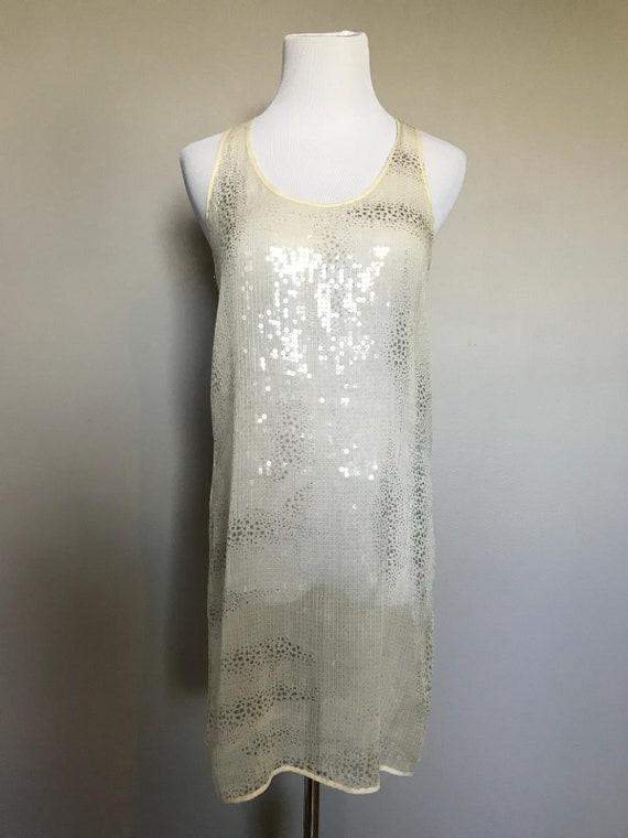 Vintage Sheer Sequin Dress - image 5