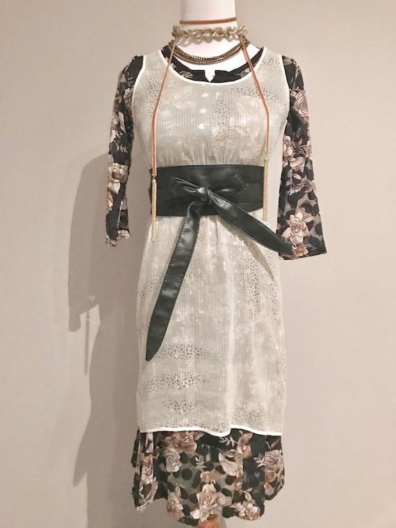 Vintage Sheer Sequin Dress - image 1