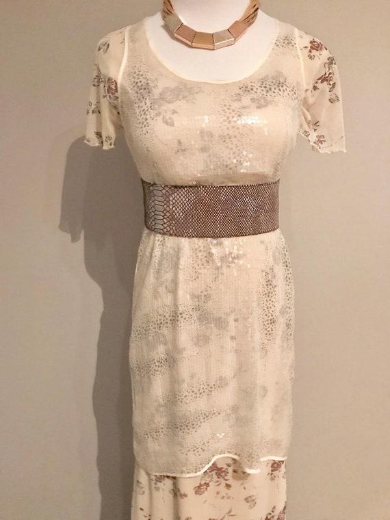 Vintage Sheer Sequin Dress - image 6
