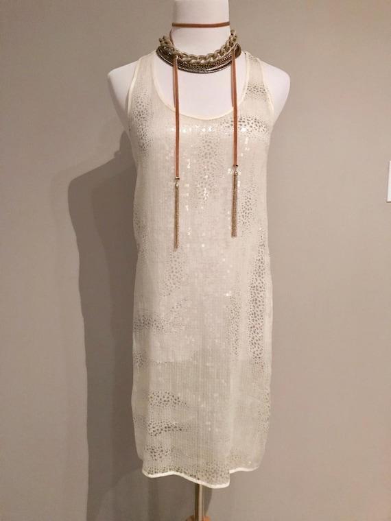 Vintage Sheer Sequin Dress - image 7