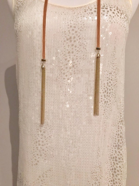 Vintage Sheer Sequin Dress - image 8