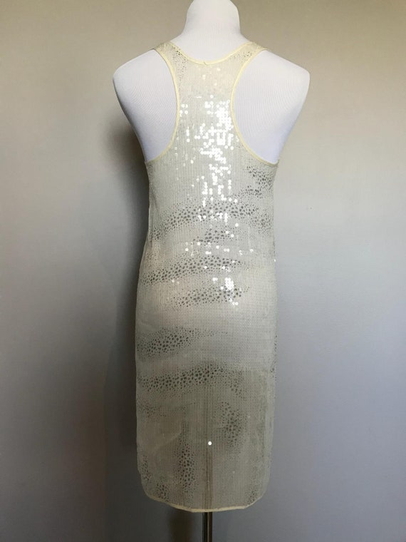 Vintage Sheer Sequin Dress - image 4