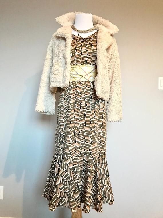 Art Deco Geometric Dress