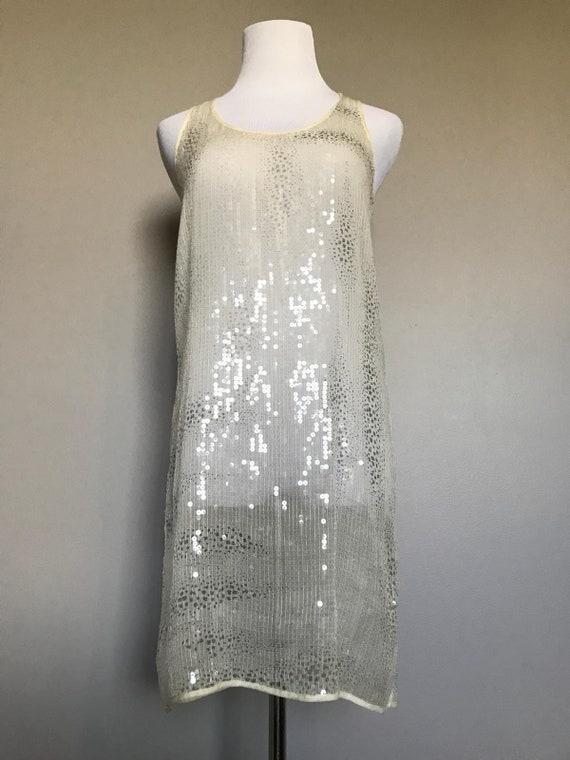 Vintage Sheer Sequin Dress - image 2