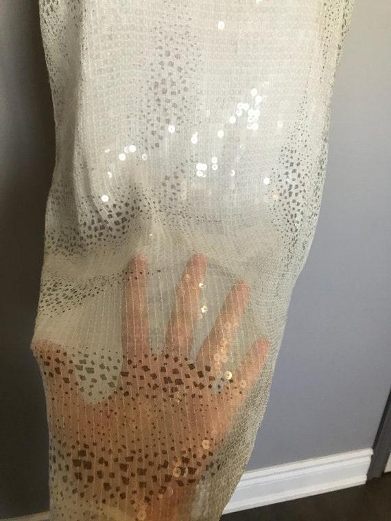 Vintage Sheer Sequin Dress - image 9