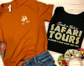 7676a3164 Simba and Nala Safari Tour Adult Unisex T-Shirt/Disney Shirt/Lion King