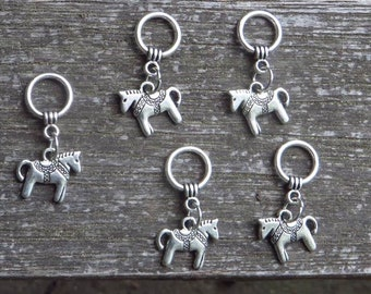 row markers Horse Head Stitch Markers place markers stitch markers for crochet progress keeper stitch markers for knitting end markers