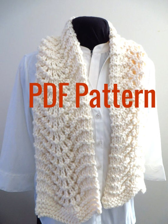 Lacy Scarf Instant Download Pdf Pattern Old Shale Feather Etsy