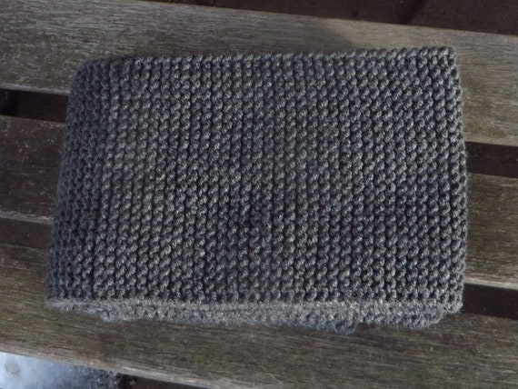 Skinny Gray Hand Knit Scarf 6 X 72 Inches Narrow Grey Etsy