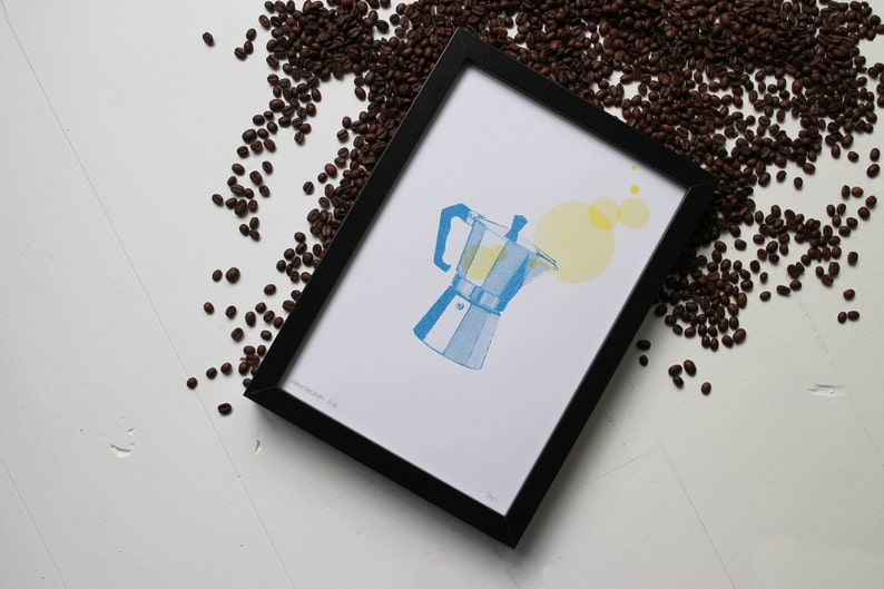 Percolator risograph print the Coffee Collection by Studio image 0