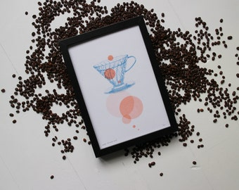 Filter coffee risograph print, the Coffee Collection by Studio Marije Pasman