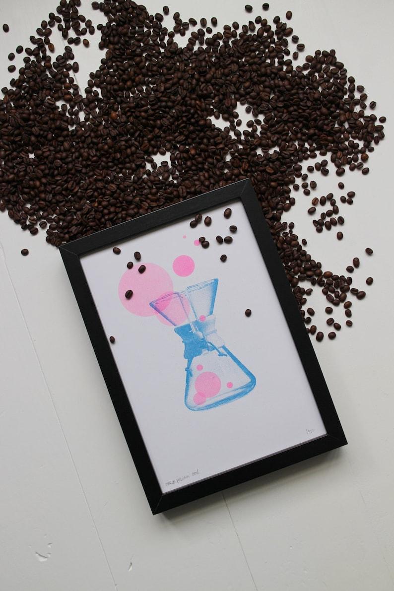 Chemex risograph print the Coffee Collection by Studio Marije image 0