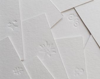 Letterpress: Little note cards by Studio Marije Pasman, stationery, white, blind press, without ink