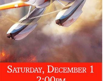 Planes & Fire Birthday Invitation