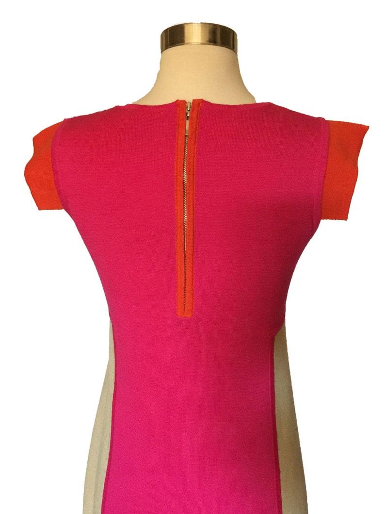 1990s Color Block Mini Dress Mod 60s Style Mary Quant Mini Go-Go Mini Dress