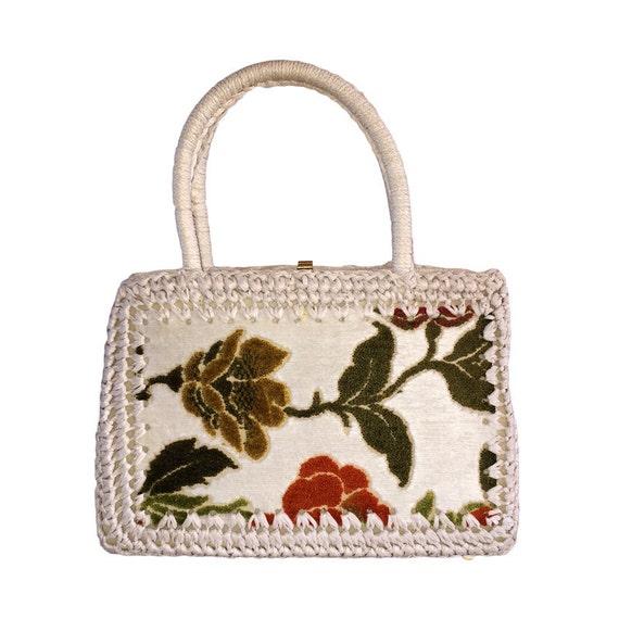 1960s Crochet Tapestry Bag Mister Ernest Simon mad