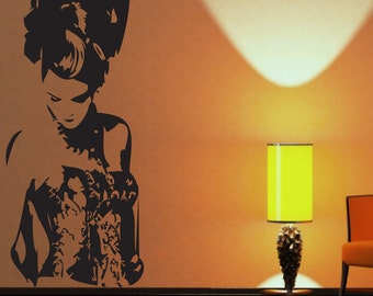 Burlesque Pixie Wall Decal-Choose Any Color