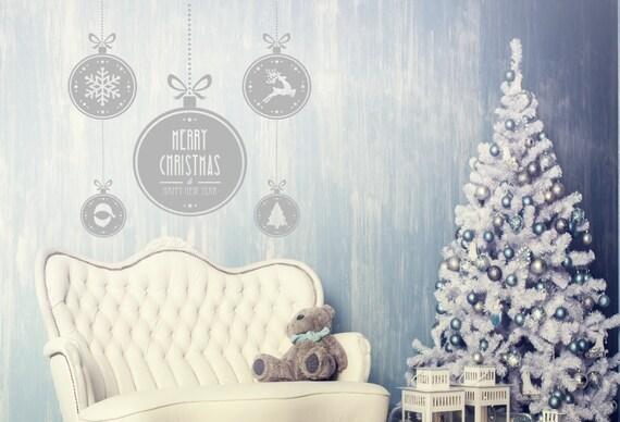 278a7e9717d0f Árbol de Navidad moderna con texto Feliz Navidad decoración de