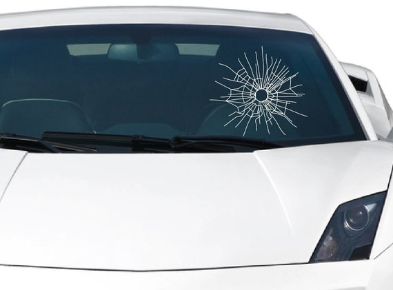 "Bullet Holes car bumper sticker decal 6/"" x 4/"""