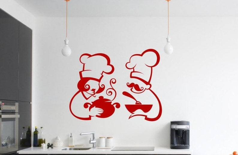 Removable Chef Silhouette Cooking Wall Kitchen Home Decor