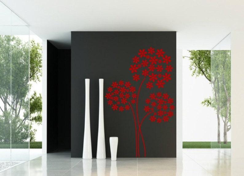Hydrangea Art Deco Flower Silhouette Wall Window Glass Art Decor Decal Vinyl Sticker Home Decor
