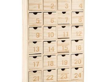 Wooden Advent Calendar Etsy