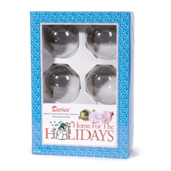6-Piece Clear Glass Christmas Decorations 70mm Ball Set Heavy Duty Ornaments
