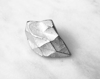 Refold Brooch - Silver handmade brooch - Silver jewelry - Goldsmith - Origami art original jewelry - One of a kind jewelry Gift for her