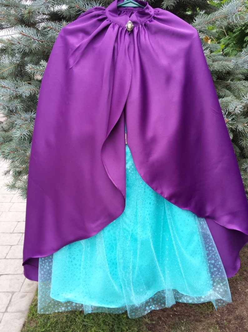 Elsa Coronation Dress Long Cape 1234678