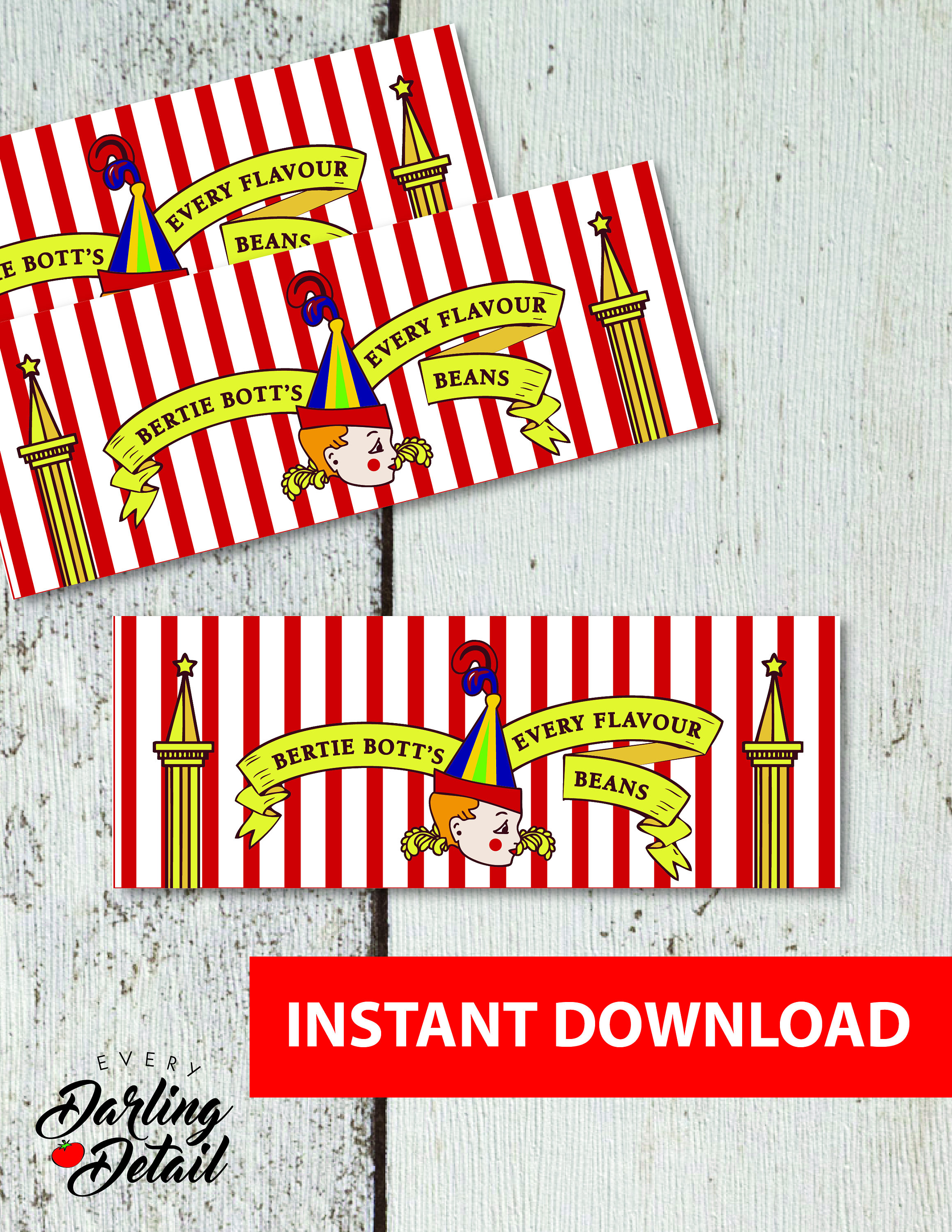 Wizard Printable Treat Bag Toppers Digital Download Etsy