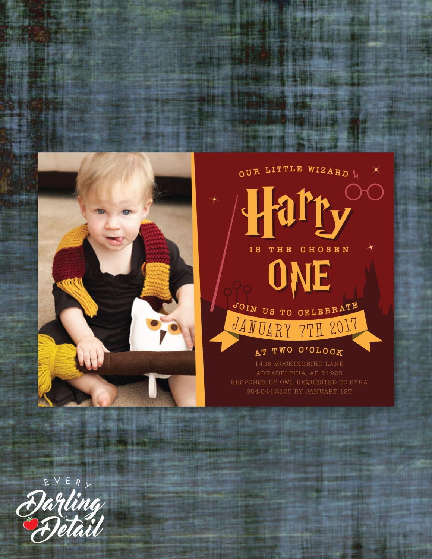 Wizard First Birthday Invitation Custom Invitation   Etsy