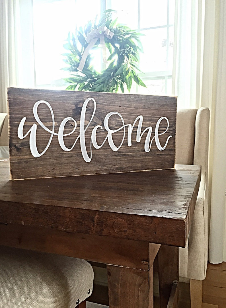Wood Welcome Sign Porch Welcome Sign Housewarming Gift Closing Gift First Home Rustic Home Decor Reclaimed Wood Wall Decor