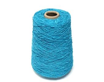 5bc070ebf94 Avanti Turquoise Cotton Rayon Textured Yarn on Cone .9 Lb KNITTING -  WEAVING - Crochet -YARN on Cone Coral