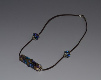 Necklace With Handmade Glass Focal Bead